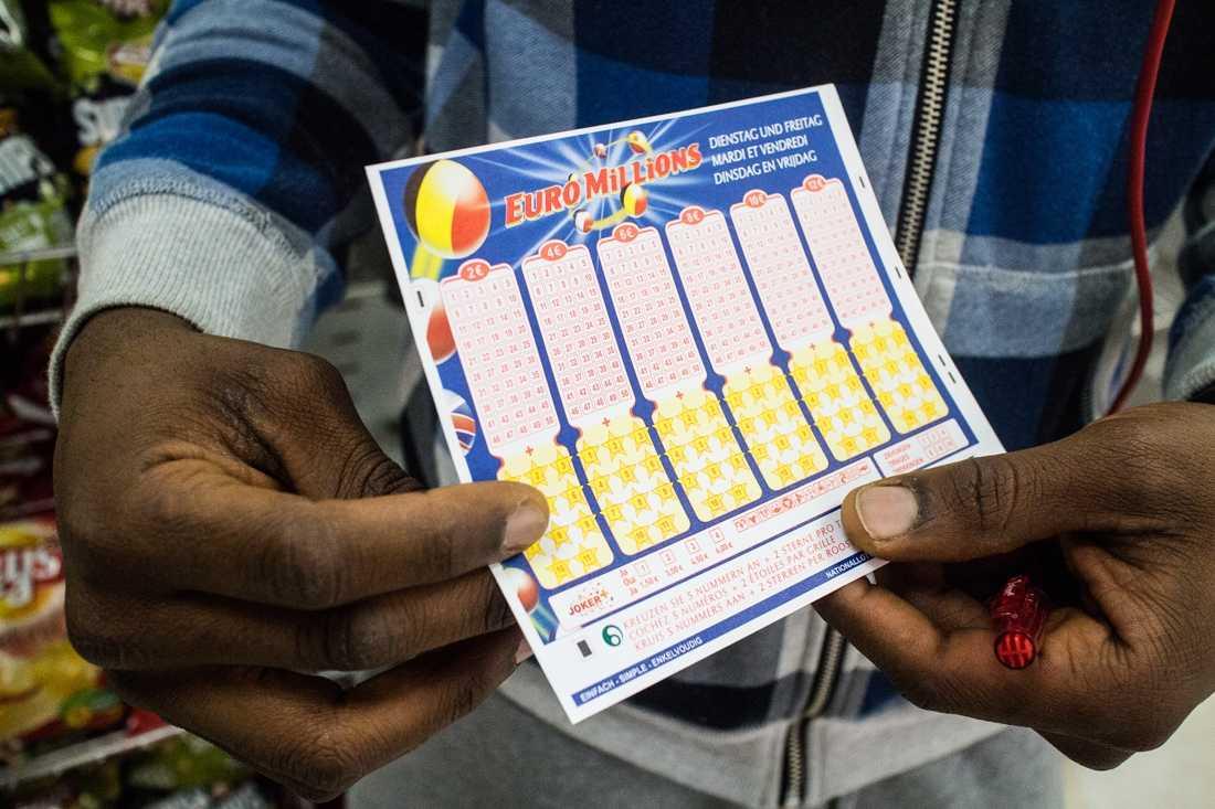 EuroMillions lotteriresultater på det offisielle euromillions-nettstedet