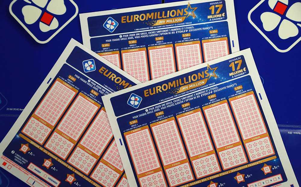 Fransk lotteri euromillioner og min million tombola