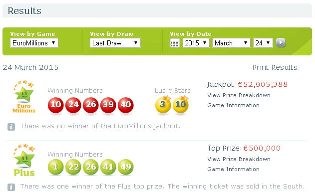 Lotto - euro-millions.com svindlere - spilleromtale og tilbakemelding