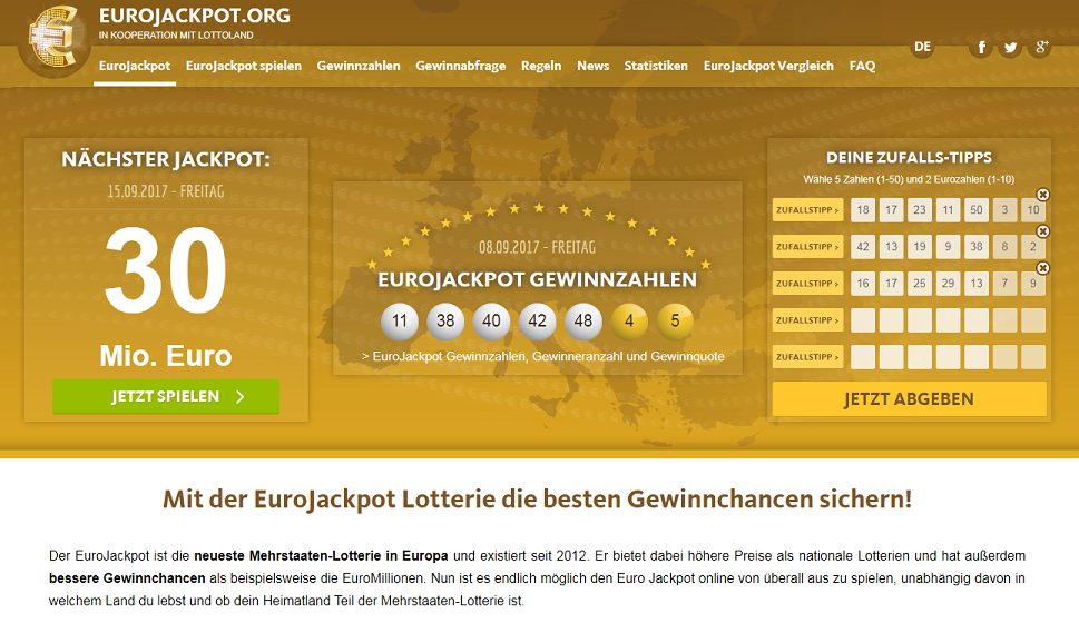 Domov | eurojackpot
